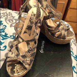 Boutique 9 wedge sandals